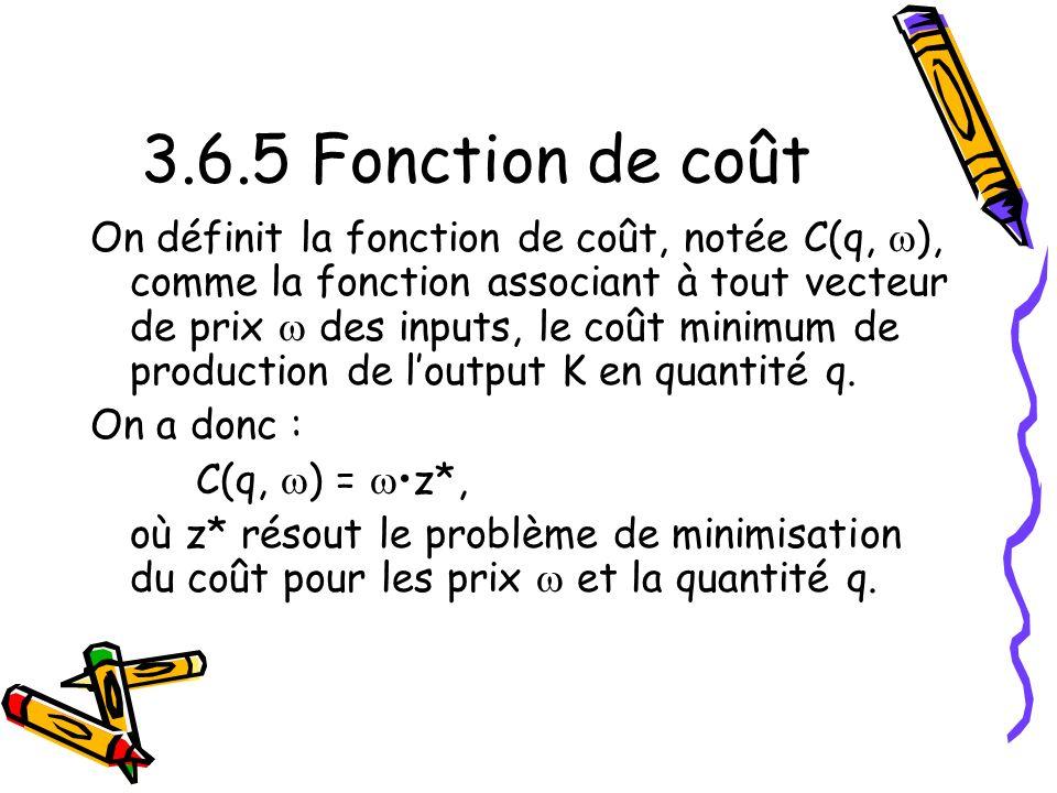 3.6.5 Fonction de coût
