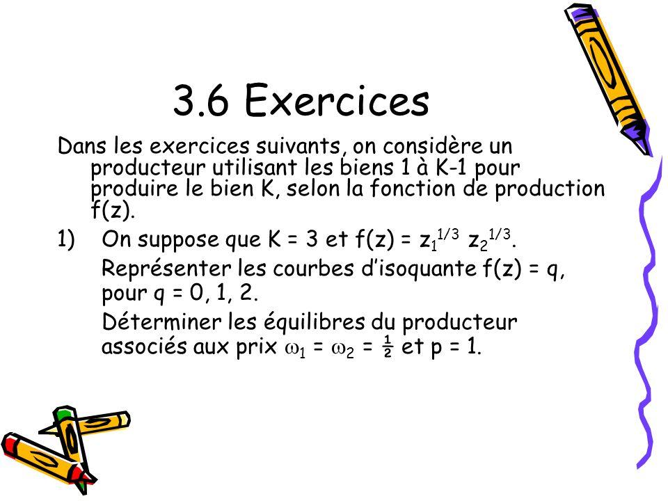 3.6 Exercices