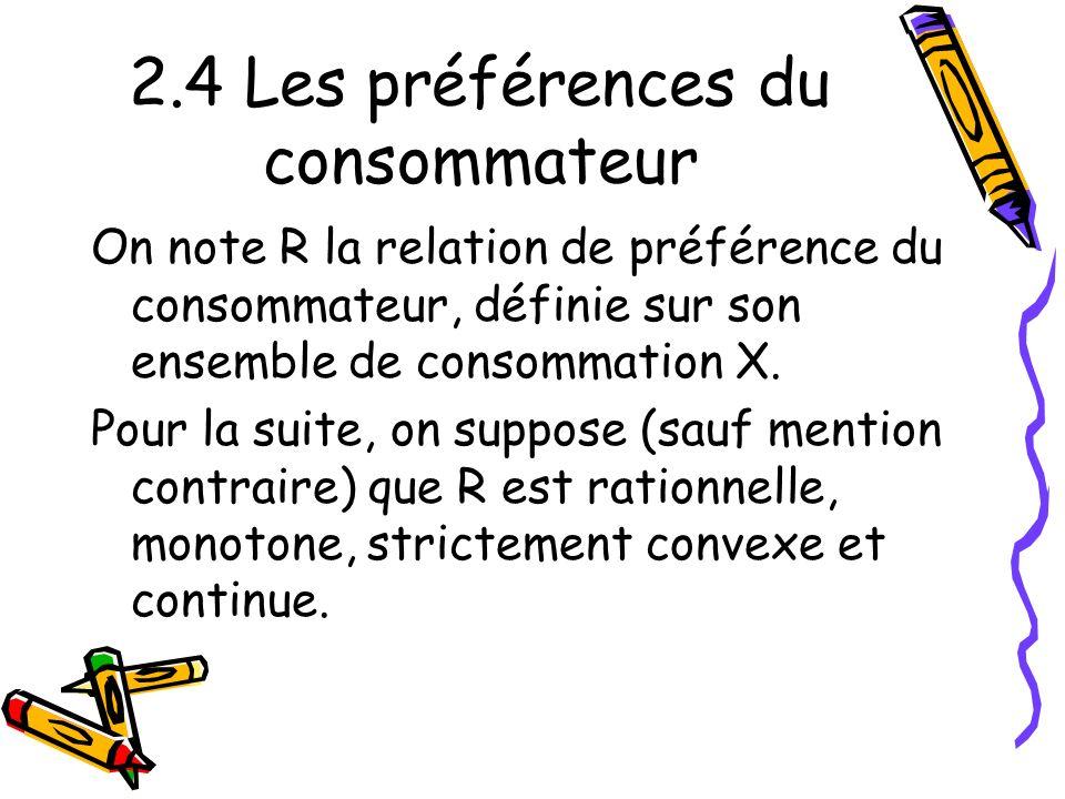 2.4 Les préférences du consommateur
