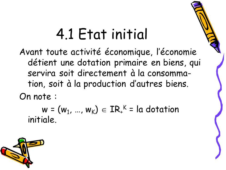4.1 Etat initial