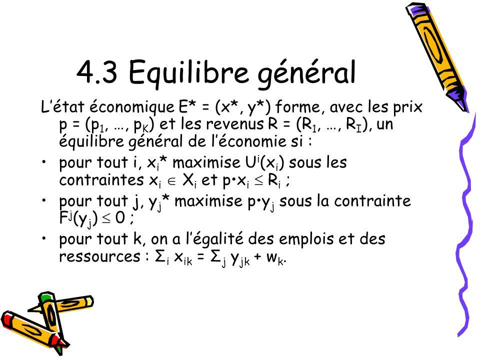 4.3 Equilibre général