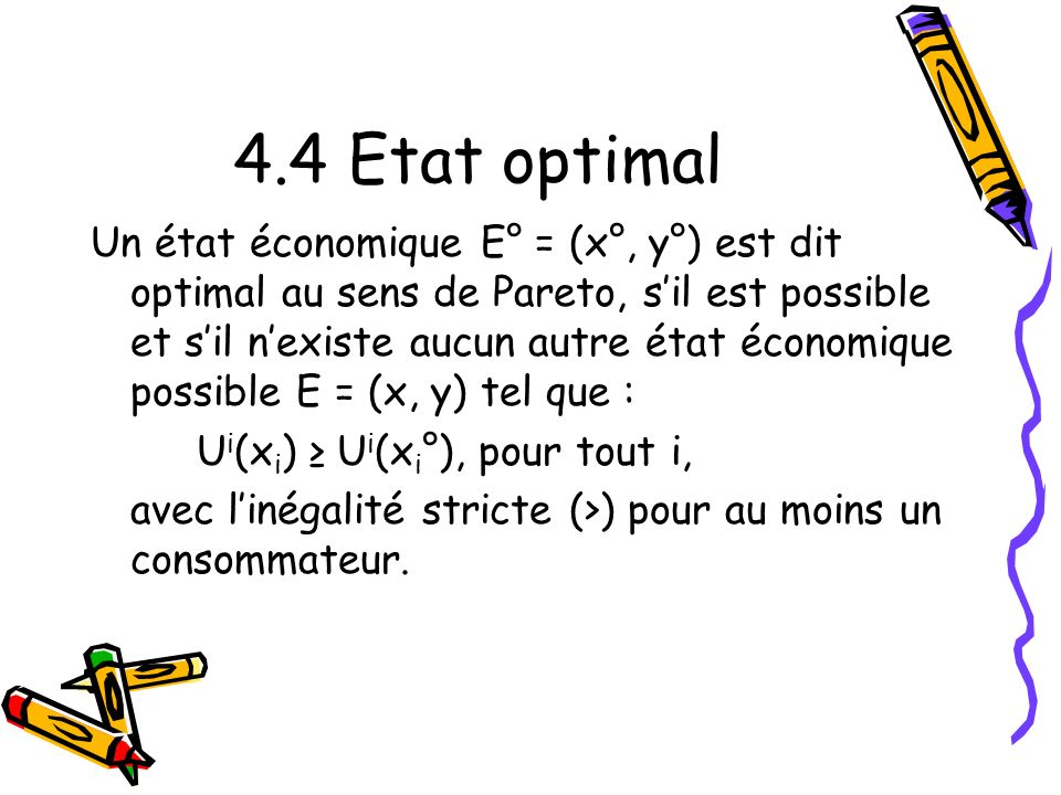 4.4 Etat optimal