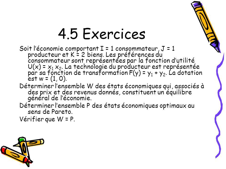 4.5 Exercices