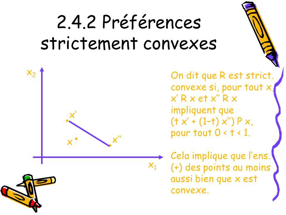 2.4.2 Préférences strictement convexes