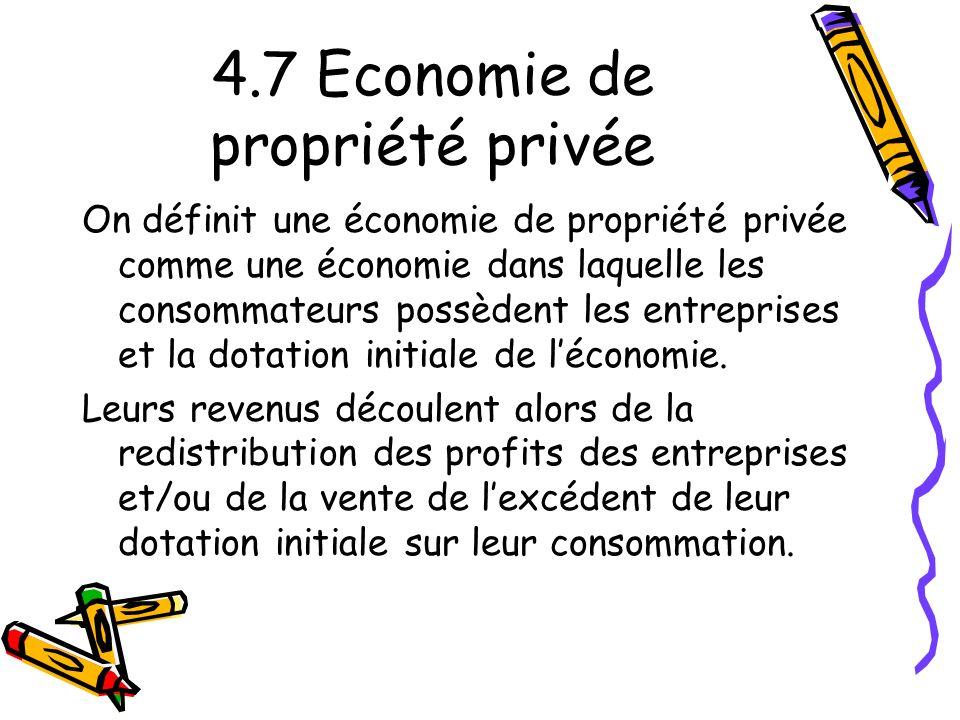 4.7 Economie de propriété privée