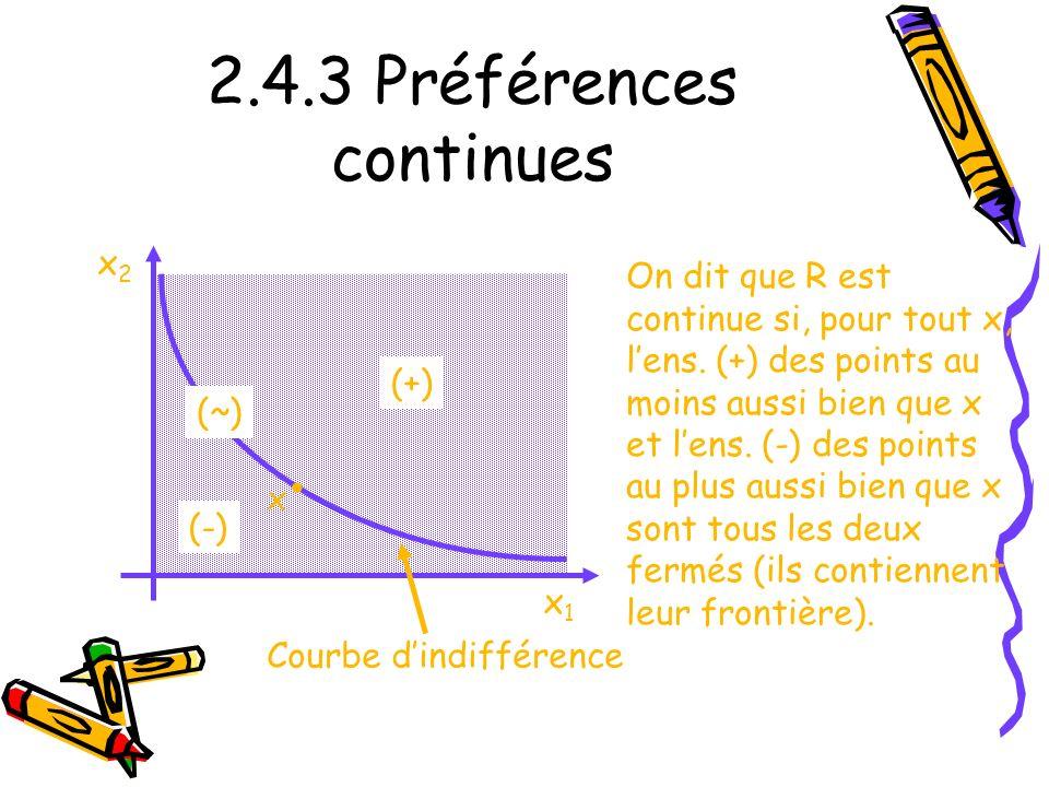 2.4.3 Préférences continues