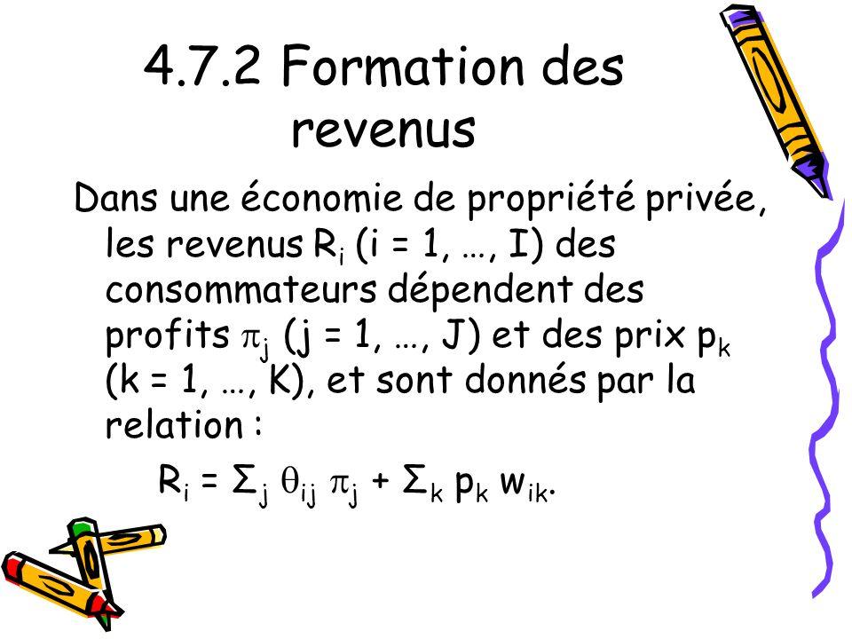 4.7.2 Formation des revenus
