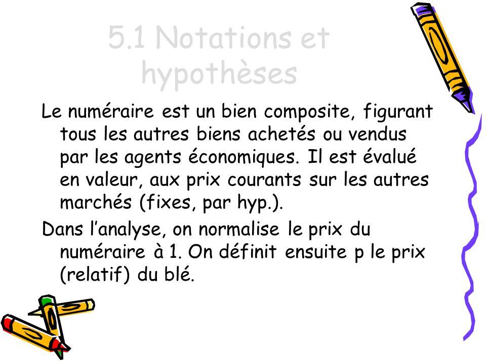 5.1 Notations et hypothèses