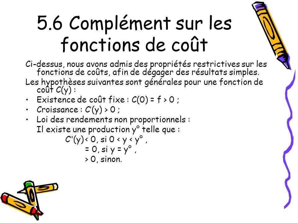 5.6 Complément sur les fonctions de coût