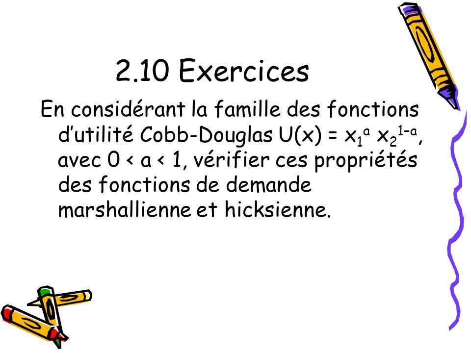 2.10 Exercices
