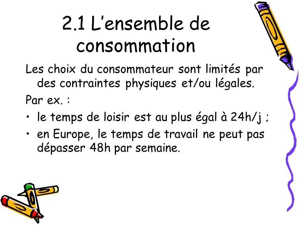 2.1 L'ensemble de consommation