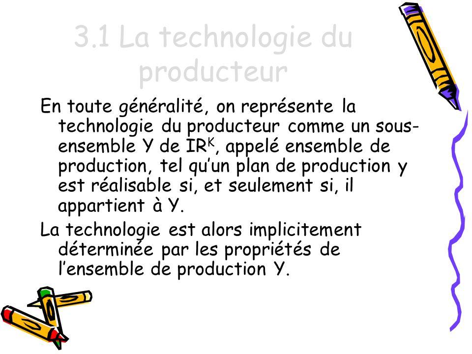 3.1 La technologie du producteur