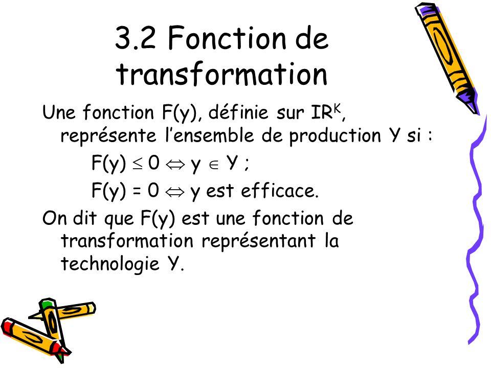 3.2 Fonction de transformation