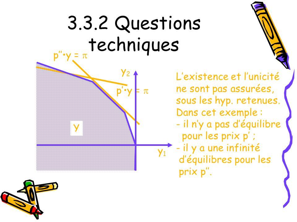 3.3.2 Questions techniques p''•y = p y2 L'existence et l'unicité