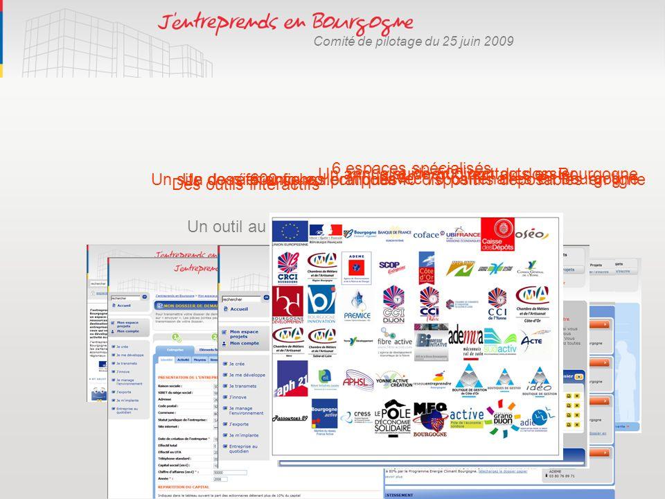6 espaces spécialisés Un annuaire de 500 contacts en Bourgogne. Le suivi en direct du dossier. Un site de référence collectif …