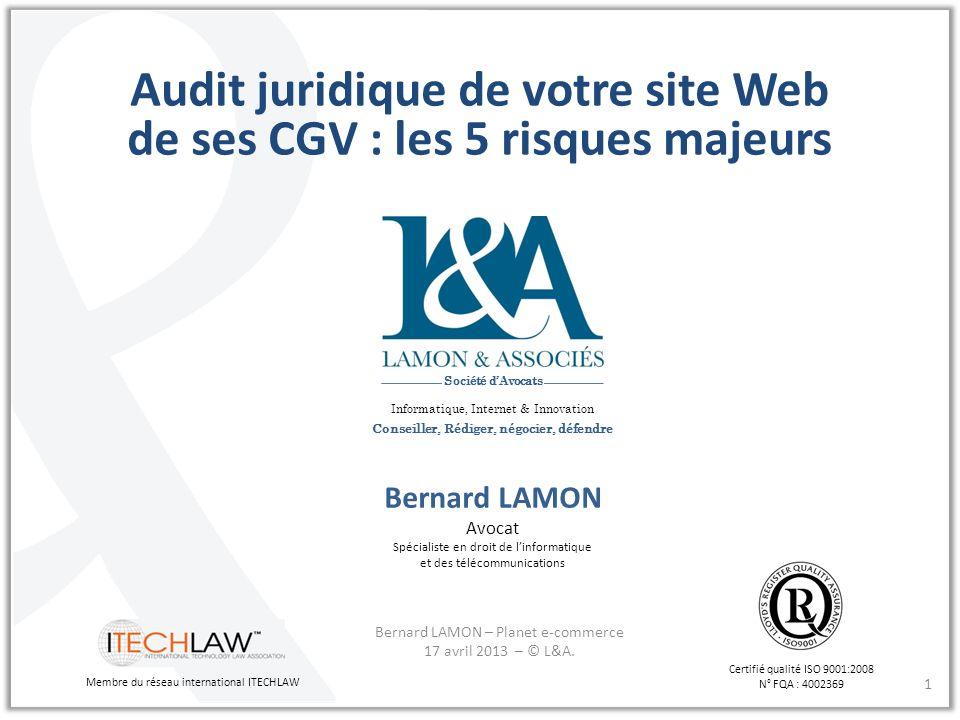 Audit juridique de votre site Web de ses CGV : les 5 risques majeurs