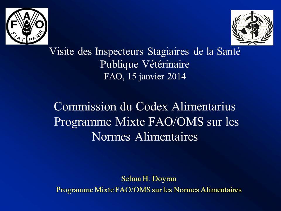 Selma H. Doyran Programme Mixte FAO/OMS sur les Normes Alimentaires