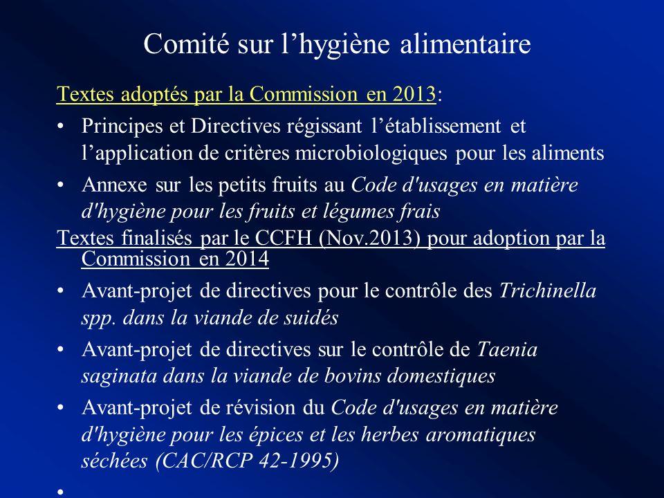 Comité sur l'hygiène alimentaire