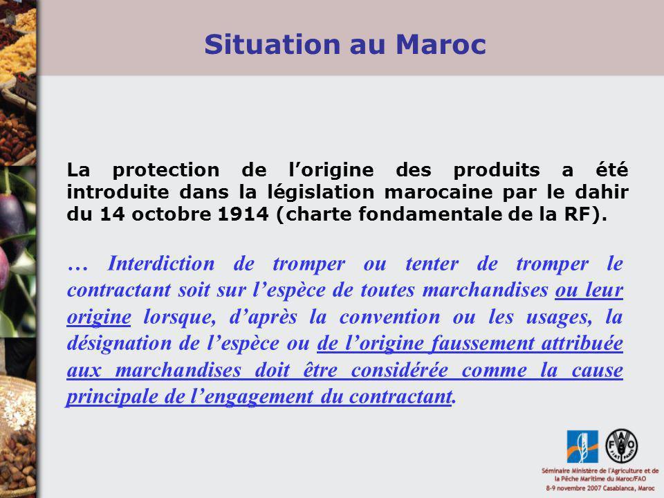 Situation au Maroc