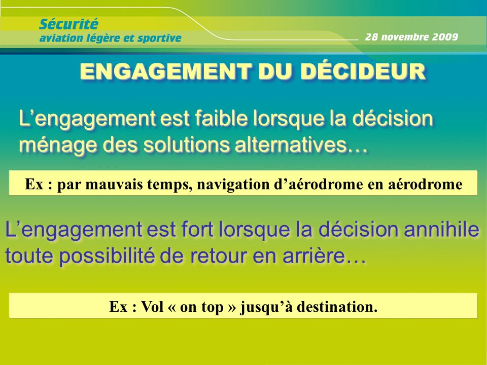 ENGAGEMENT DU DÉCIDEUR