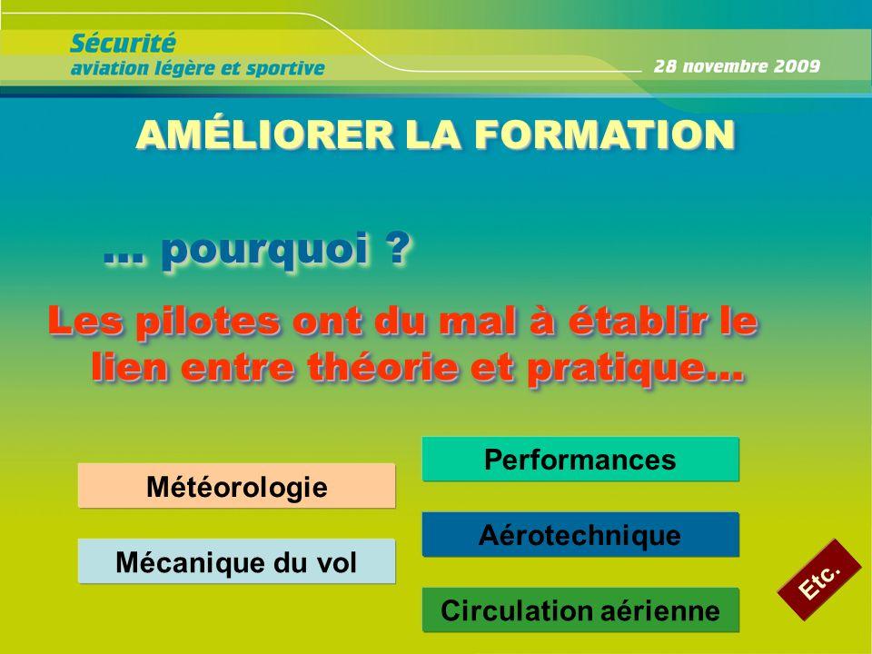 AMÉLIORER LA FORMATION