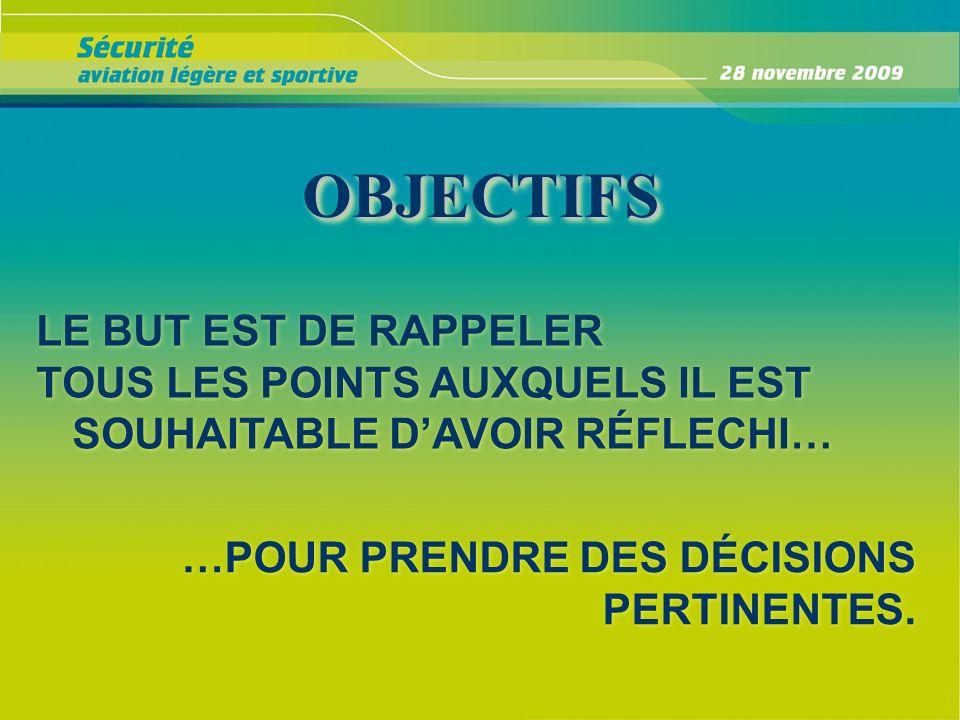 OBJECTIFS LE BUT EST DE RAPPELER