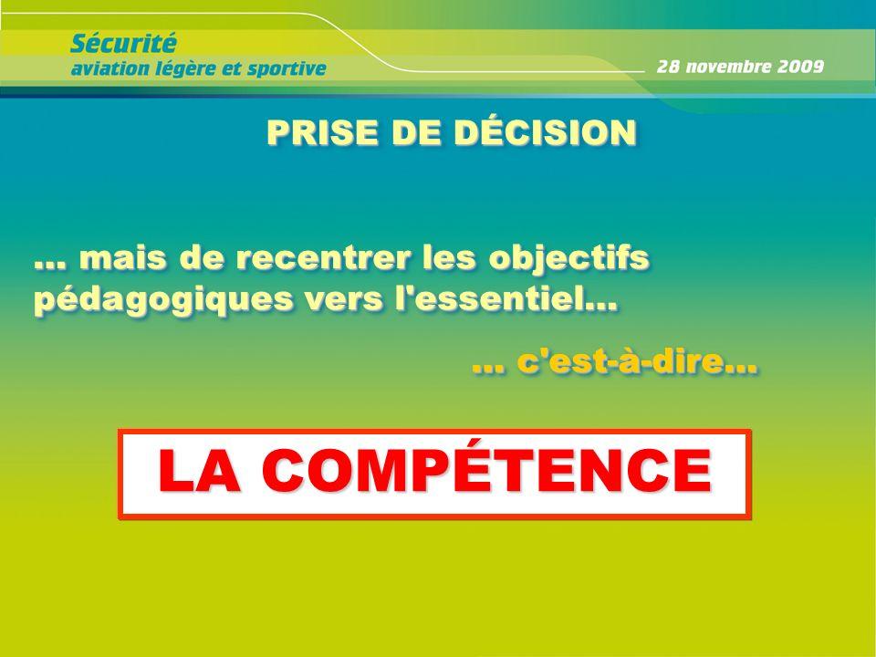 LA COMPÉTENCE PRISE DE DÉCISION