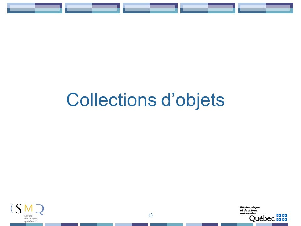 Collections d'objets