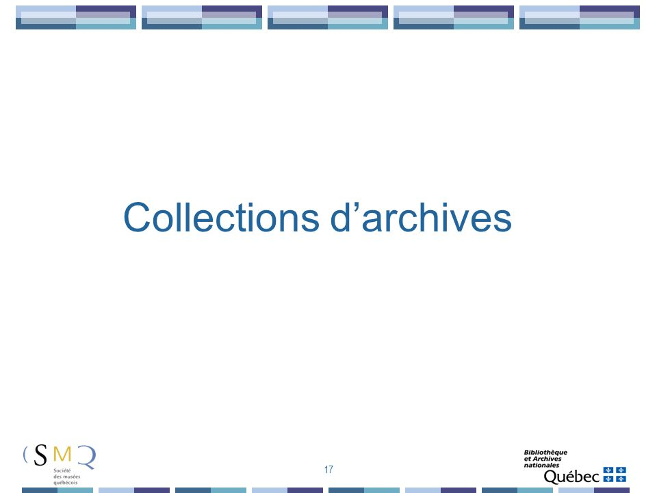 Collections d'archives
