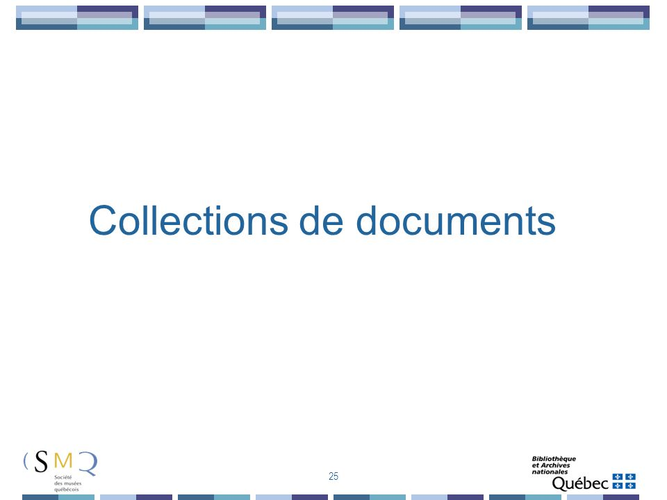 Collections de documents