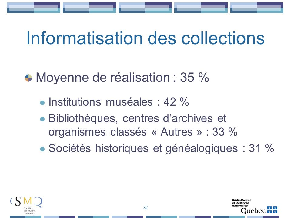 Informatisation des collections