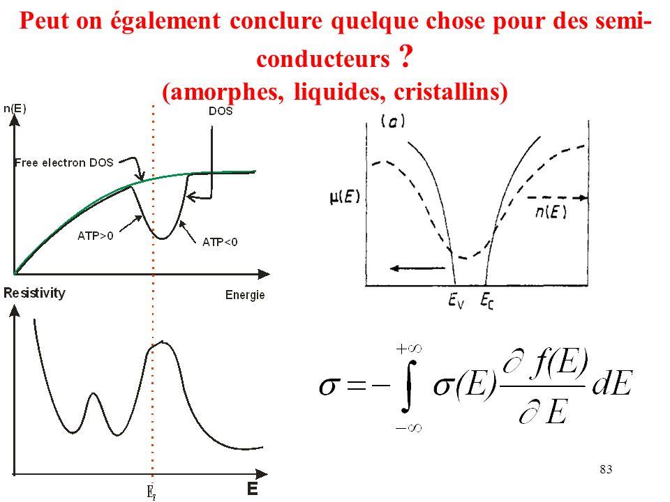 (amorphes, liquides, cristallins)