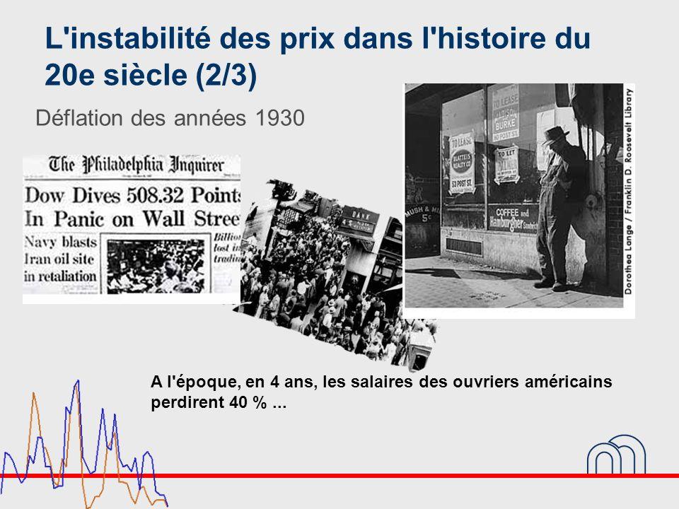 L instabilité des prix dans l histoire du 20e siècle (2/3)