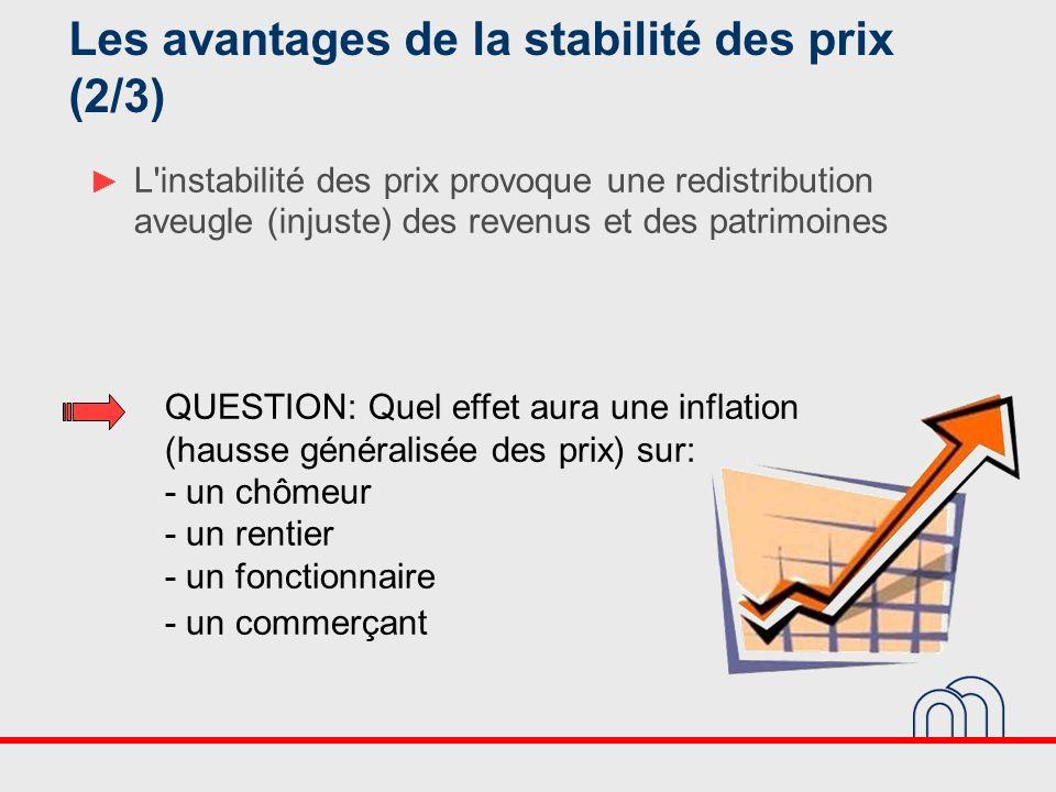 Les avantages de la stabilité des prix (2/3)