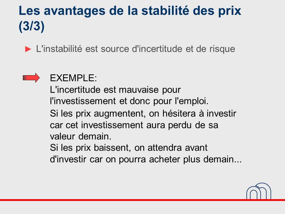 Les avantages de la stabilité des prix (3/3)