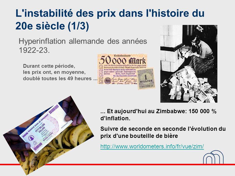 L instabilité des prix dans l histoire du 20e siècle (1/3)