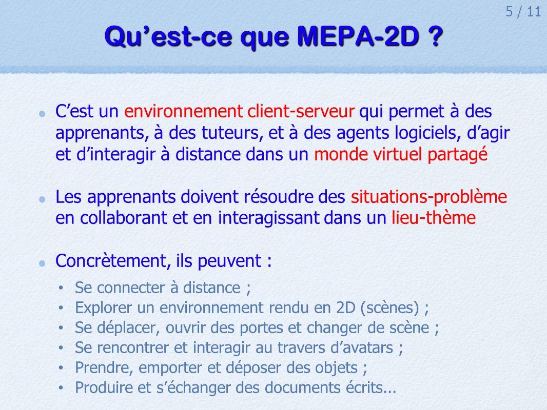 Qu'est-ce que MEPA-2D