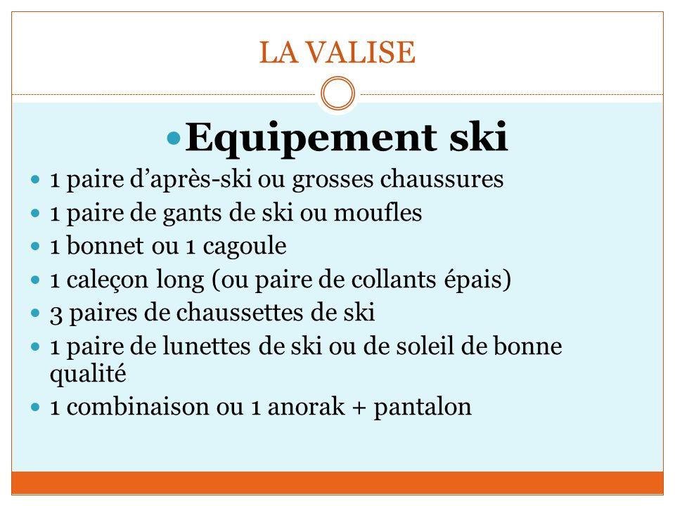 Equipement ski LA VALISE 1 paire d'après-ski ou grosses chaussures