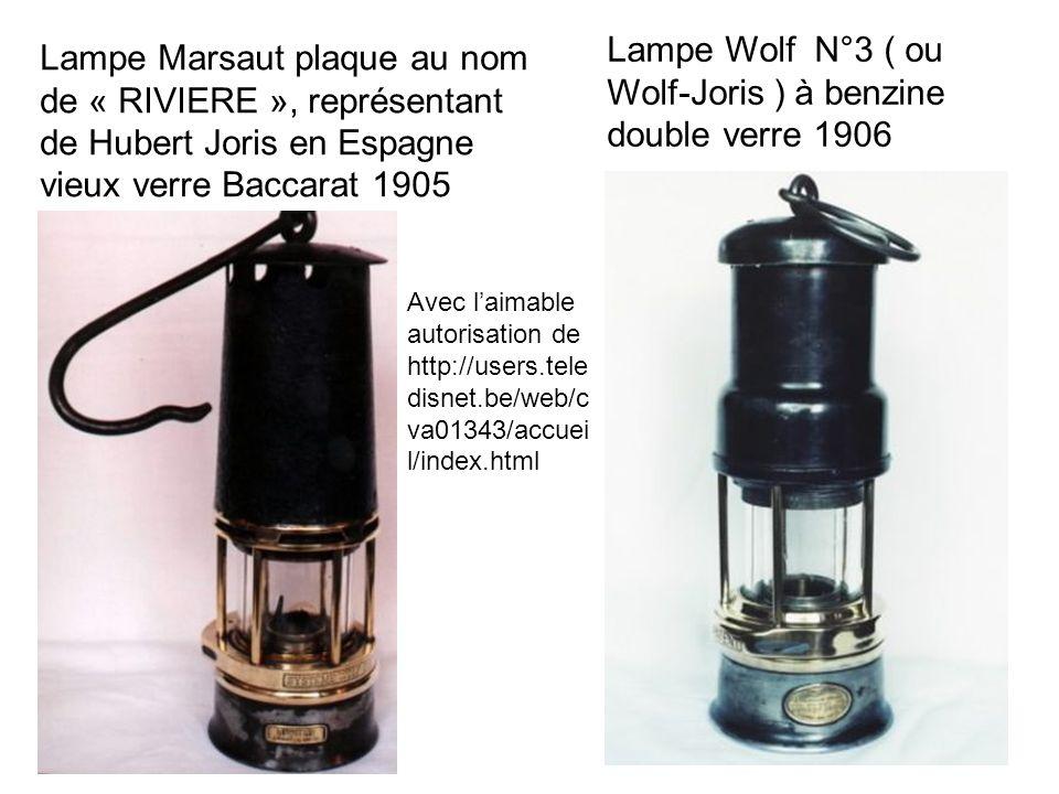 Lampe Wolf N°3 ( ou Wolf-Joris ) à benzine double verre 1906