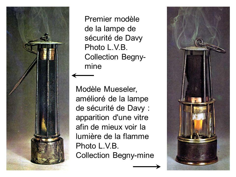 Premier modèle de la lampe de sécurité de Davy