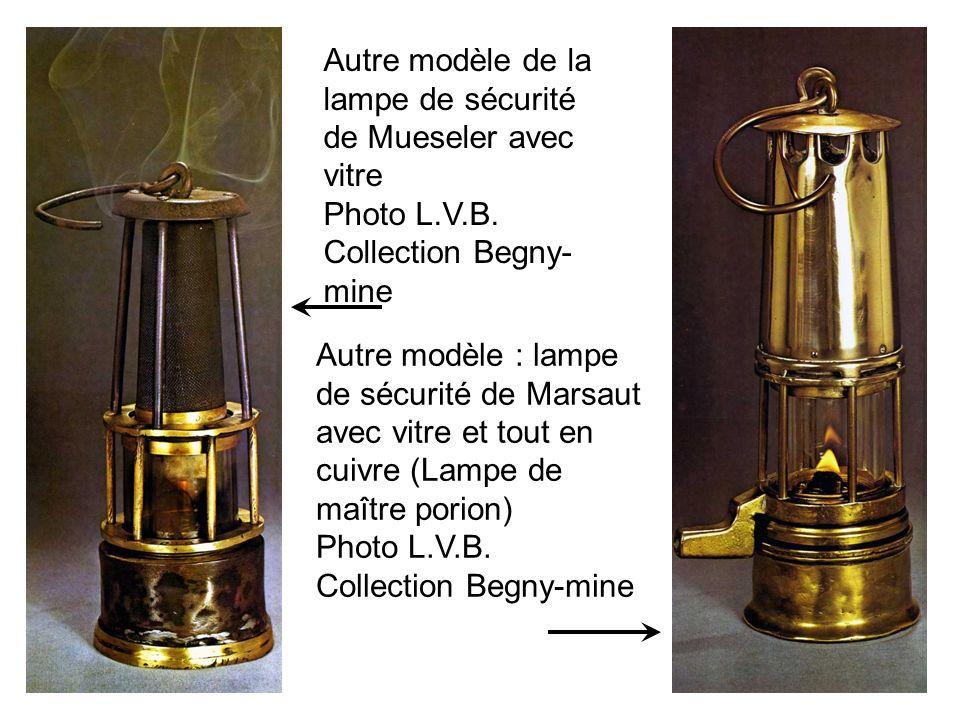 Autre modèle de la lampe de sécurité de Mueseler avec vitre