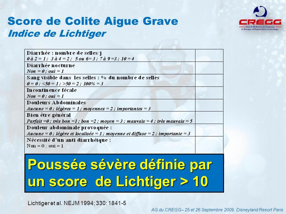 Score de Colite Aigue Grave Indice de Lichtiger