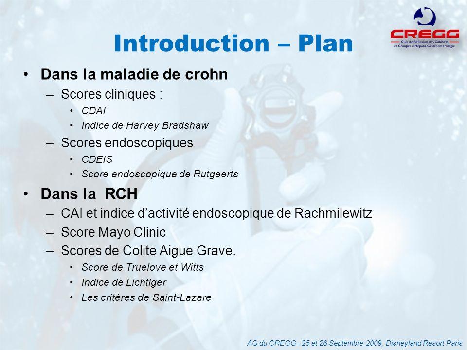 Introduction – Plan Dans la maladie de crohn Dans la RCH