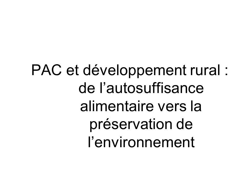 PAC et développement rural : de l'autosuffisance alimentaire vers la préservation de l'environnement