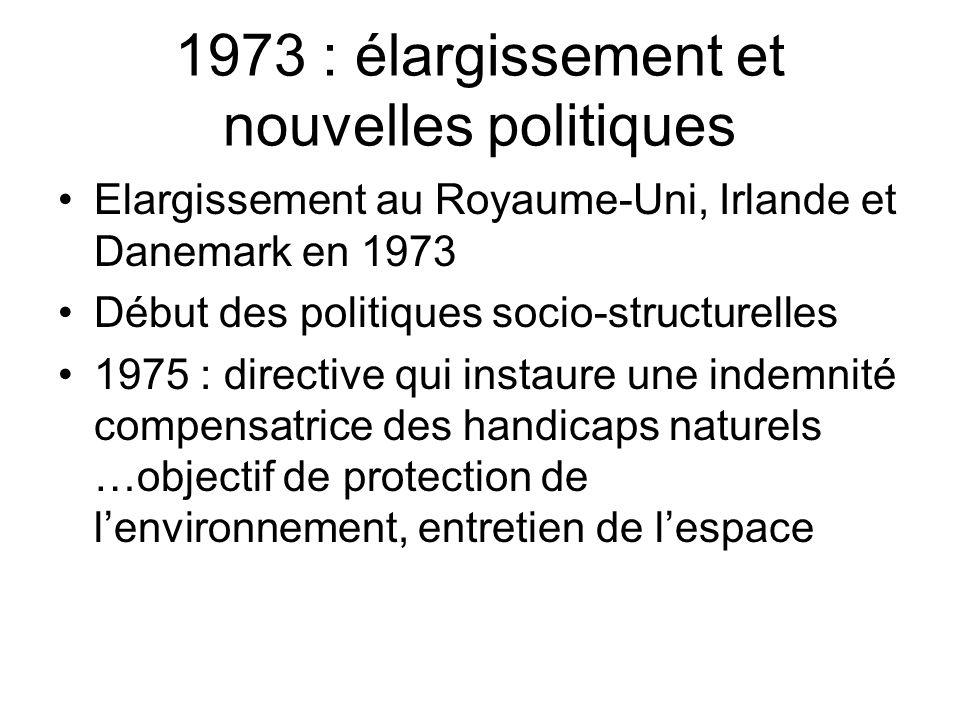 1973 : élargissement et nouvelles politiques