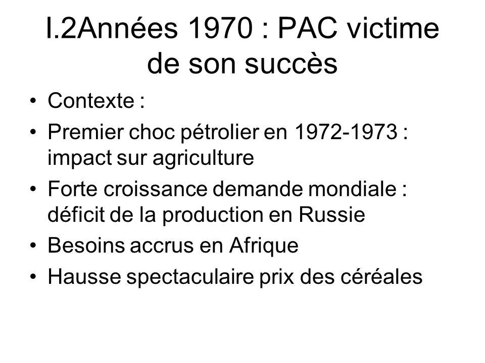 I.2Années 1970 : PAC victime de son succès
