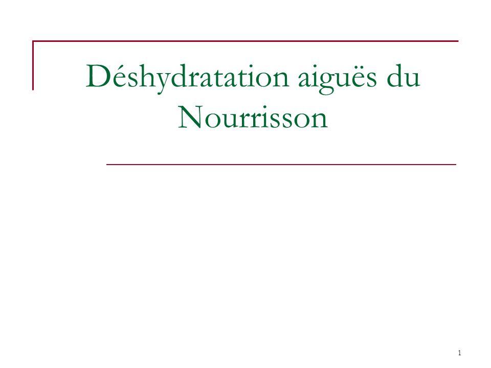 Déshydratation aiguës du Nourrisson