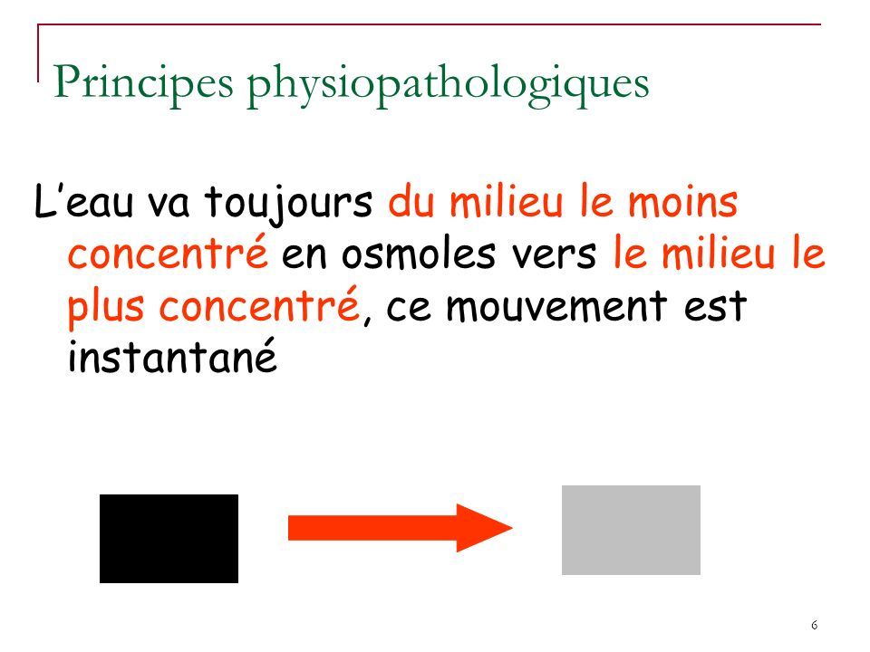 Principes physiopathologiques