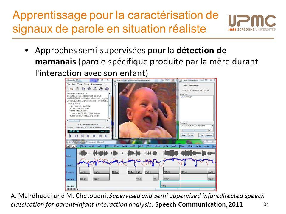 Apprentissage pour la caractérisation de signaux de parole en situation réaliste