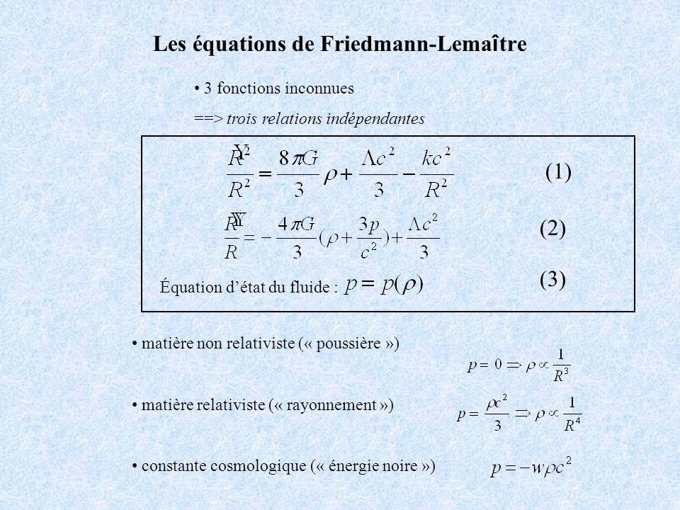 Les équations de Friedmann-Lemaître